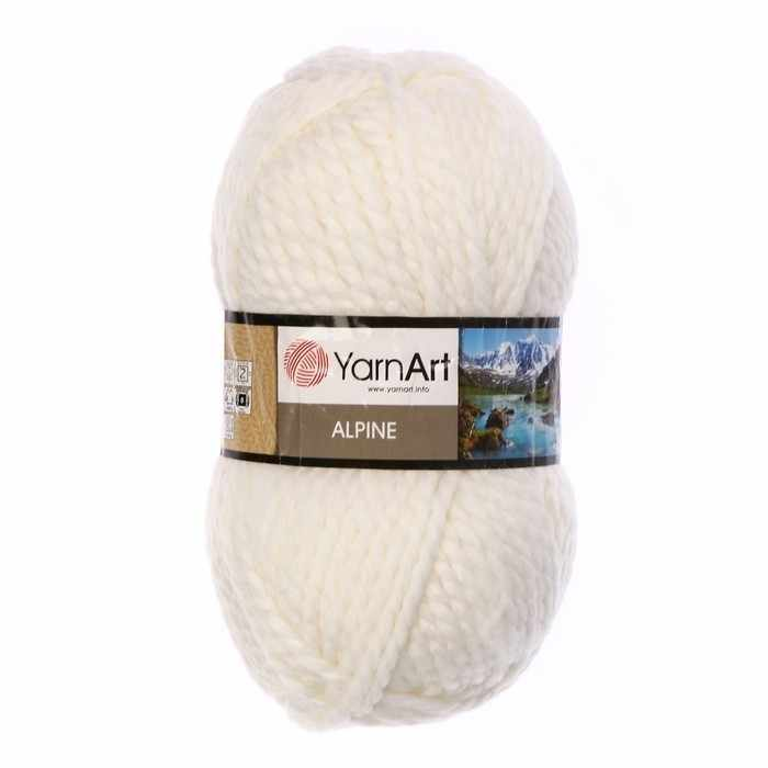 Пряжа YarnArt ALPINE Цвет.330 Белый