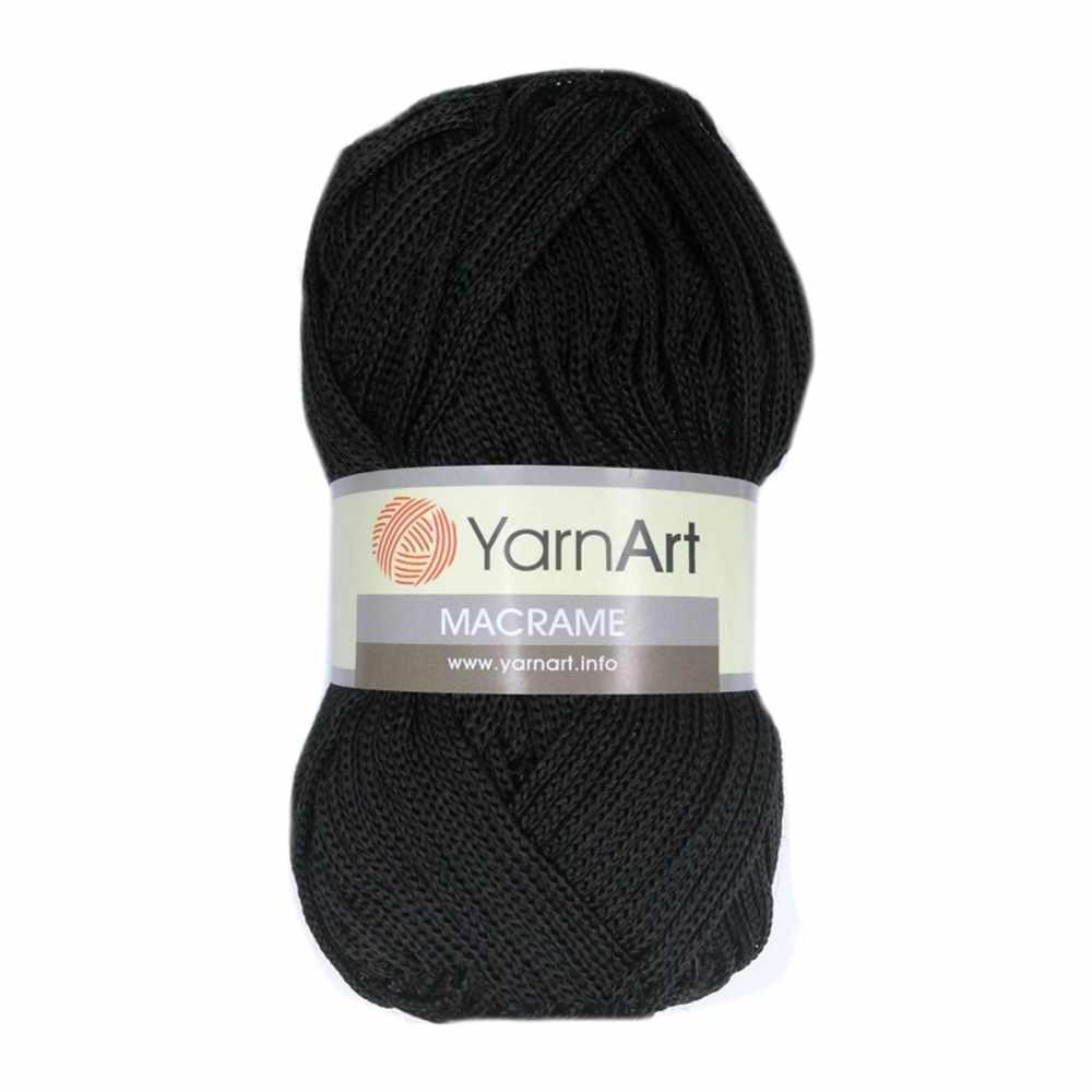 Пряжа YarnArt MACRAME Цвет.148 Черный