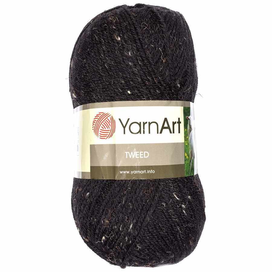 Пряжа YarnArt TWEED YARNART Цвет.228 Черный