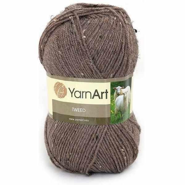 Пряжа YarnArt TWEED YARNART Цвет.229 Коричневый