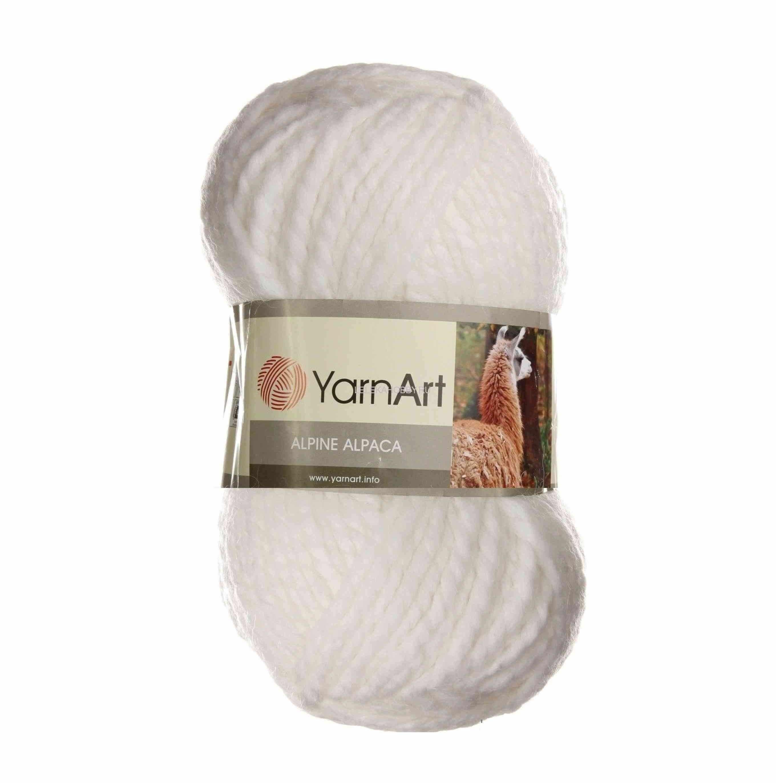 Пряжа YarnArt ALPINE ALPACA Цвет.440 Белый