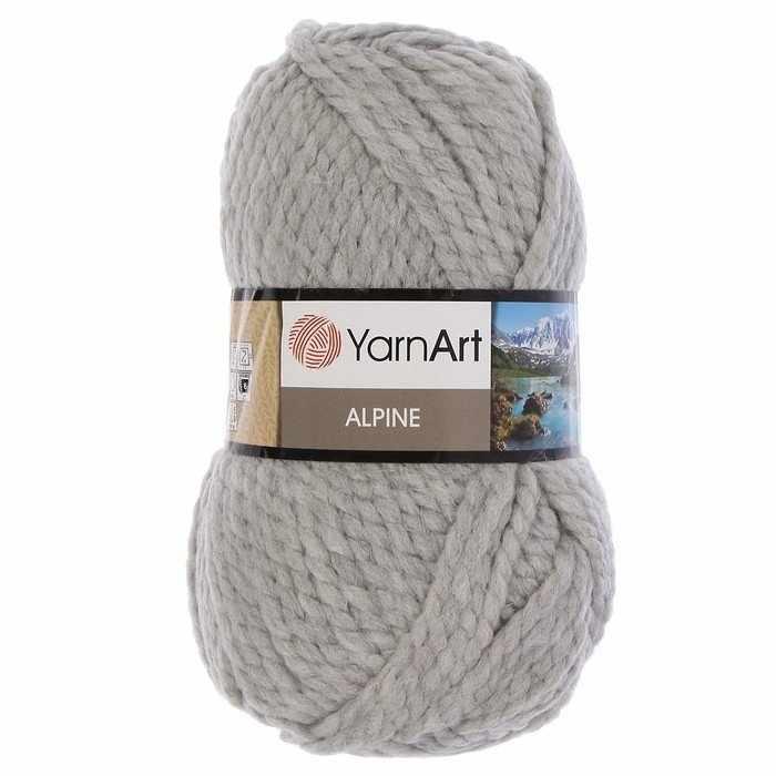 Пряжа YarnArt ALPINE Цвет.334 Светло серый
