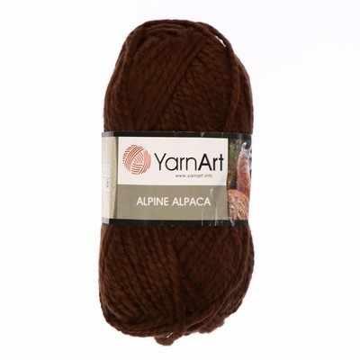 Пряжа YarnArt ALPINE ALPACA Цвет.431 Коричневый