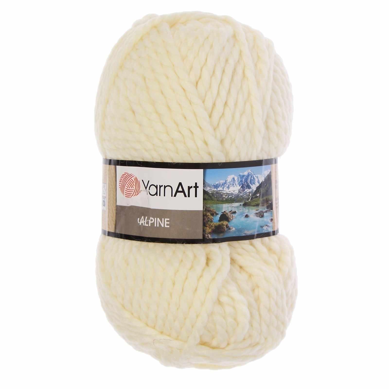 Пряжа YarnArt ALPINE Цвет.333 Молочный