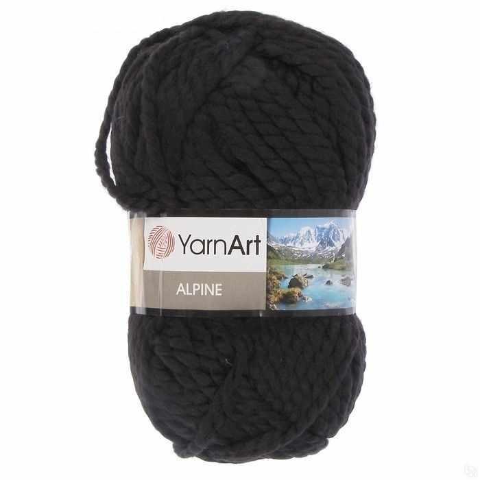 Пряжа YarnArt ALPINE Цвет.331 Черный