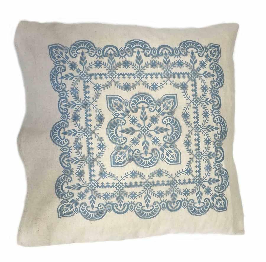 ККПН (лен) 02 Зимняя сказка- набор наволочка на подушку для вышивки крестом