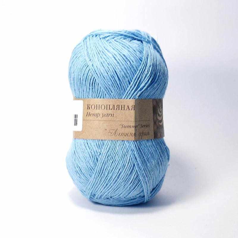 Пряжа Пехорка Конопляная Цвет.05-Голубой