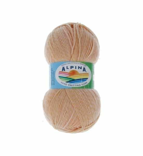 Пряжа Alpina ROMANTIC 04 Светло-персиковый-светло желтый