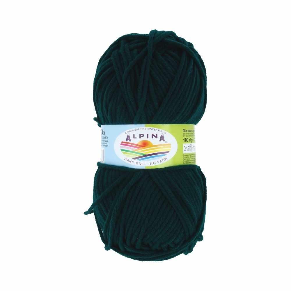Пряжа Alpina MARTA 008 Темно зеленый