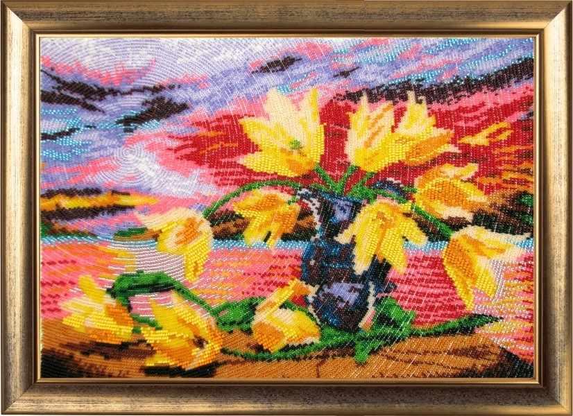СА 234 Желтые тюльпаны - схема для вышивания (Butterfly)
