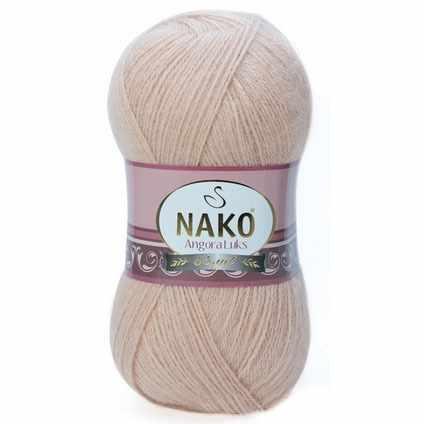 Пряжа Nako Angora Luks Цвет.10042 св.телесный