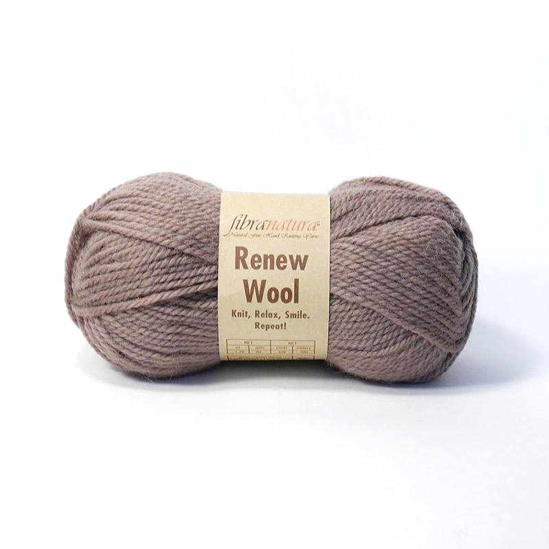 Пряжа Fibra Natura Renew Wool Цвет.102 Беж