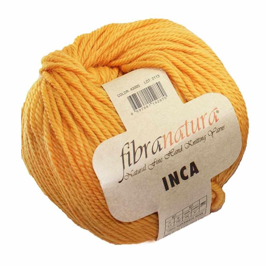 Пряжа Fibra Natura Inca Цвет.43005 яр.желтый