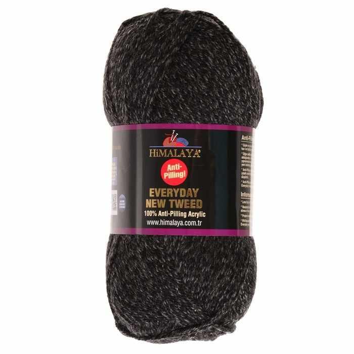 Пряжа Himalaya  Everyday new tweed Цвет.75112 черн.серый меланж
