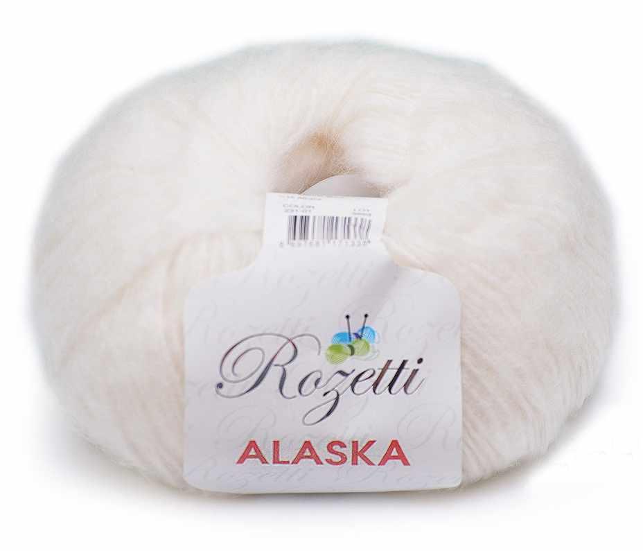 Пряжа Rozetti  Alaska Rozetti Цвет.231-01 Белый