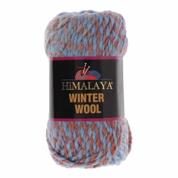 Пряжа Himalaya  Winter wool Цвет.01 гол.оранж.мел.