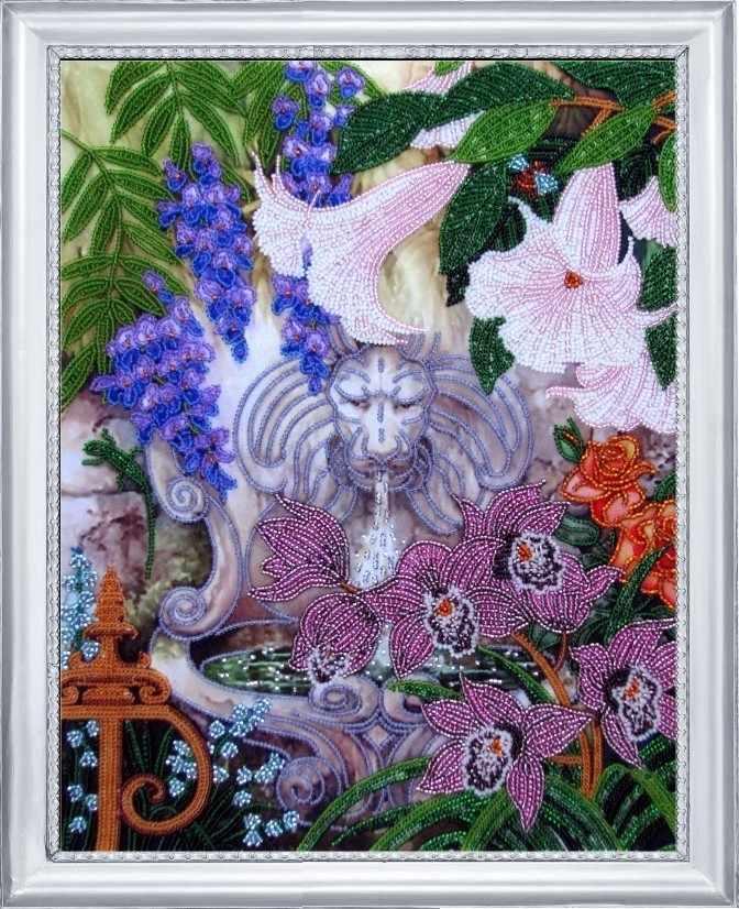 СА 229 Фонтан в саду - схема для вышивания (Butterfly)