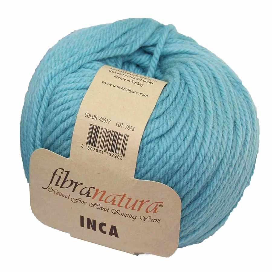 Пряжа Fibra Natura Inca Цвет.43017 голубой