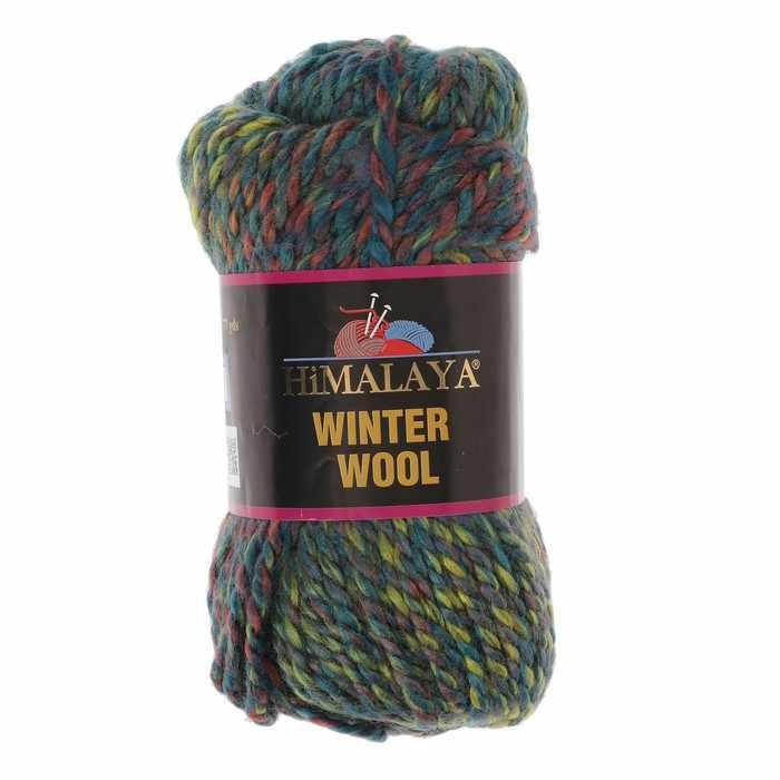 Пряжа Himalaya  Winter wool Цвет.14 террак.зел.бирюза