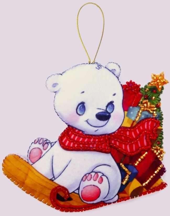 F139 Белый медвежонок - Butterfly