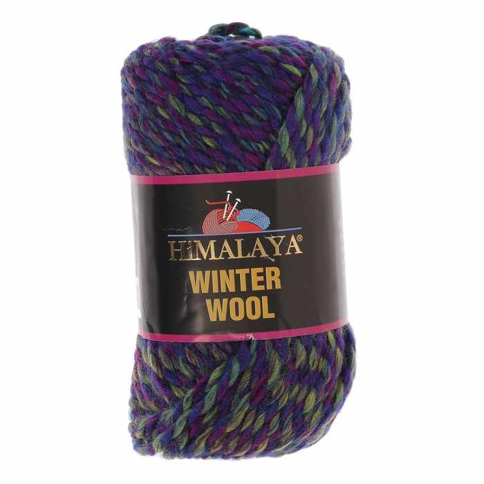 Пряжа Himalaya  Winter wool Цвет.09 зел.син.сирен.черн.