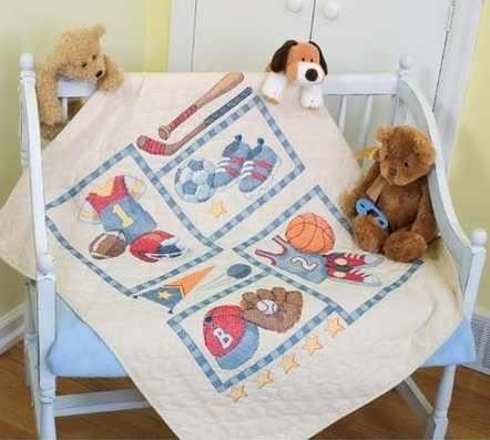 73255-DMS Лоскутное одеяло. Малыш в спорте