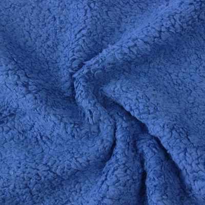 Мех хлопох с начесом 471008 Цвет.Синий (50*75 см)