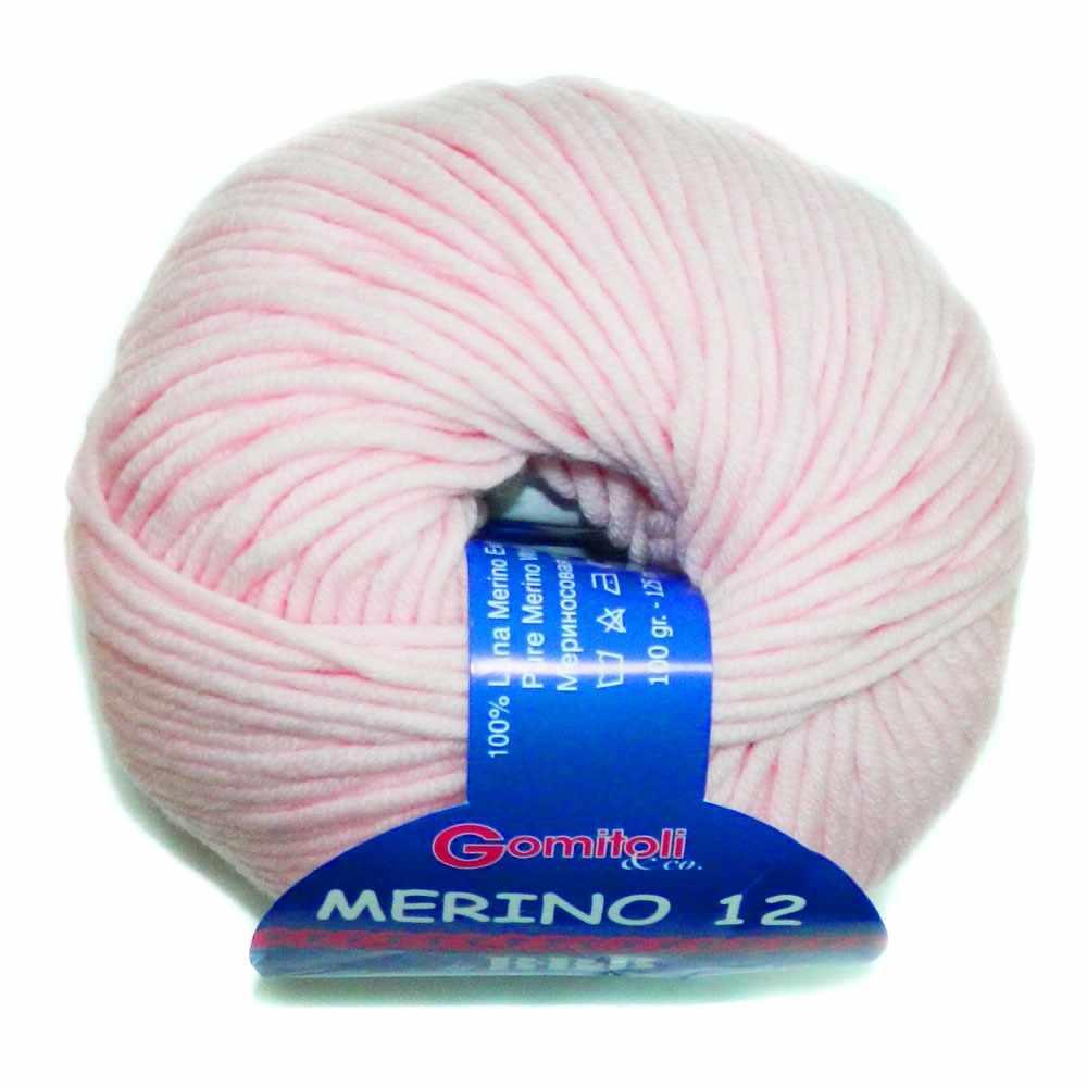 Пряжа BBB Filati Merino 12 Цвет.86276 Нежно-розовый