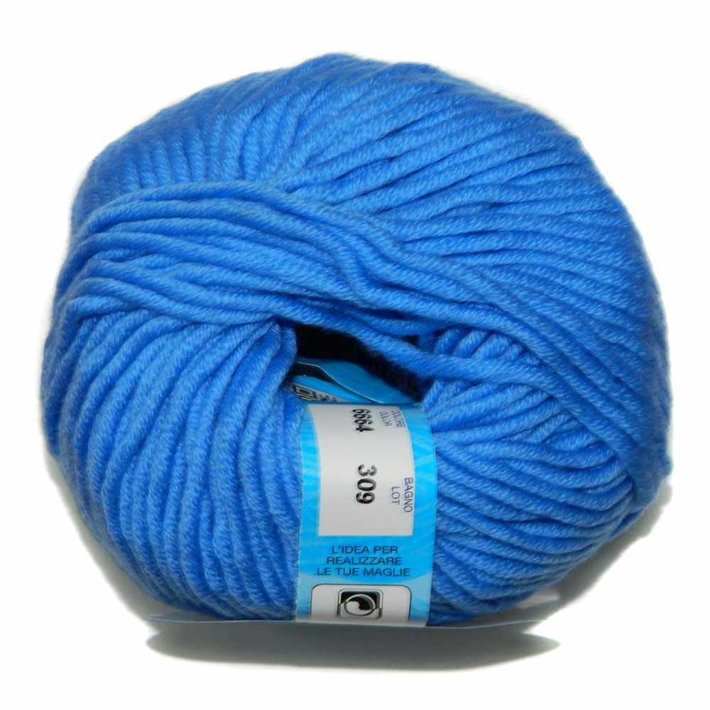 Пряжа BBB Filati Merino 12 Цвет.6664 Яр.голубой
