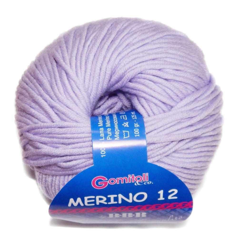 Пряжа BBB Filati Merino 12 Цвет.8268 Бледн.сирень