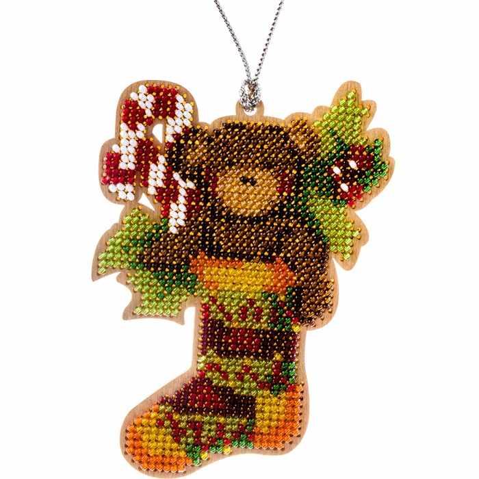 FLK-138 Набор для вышивания бисером по дереву