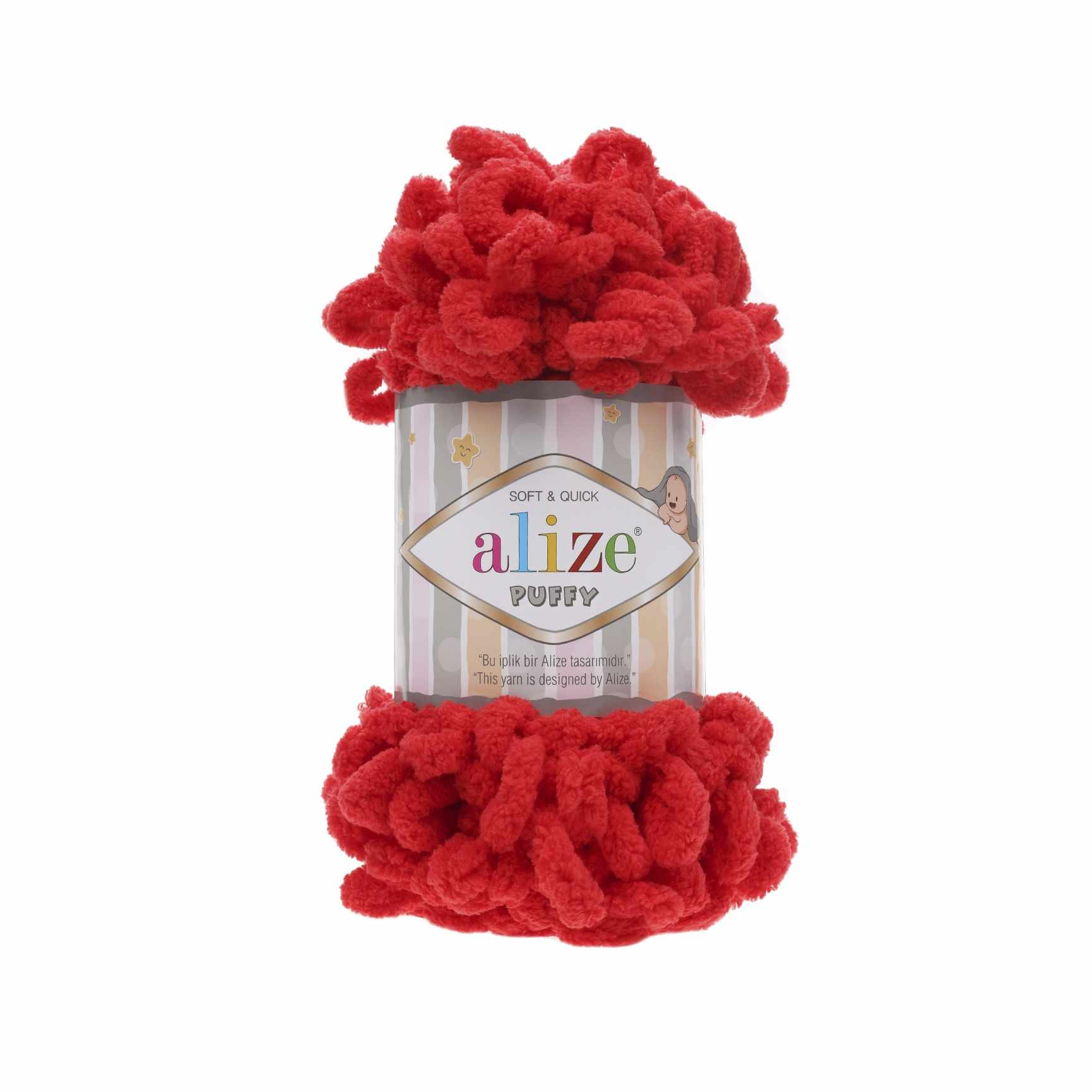 Пряжа Alize PUFFY Цвет.56 Красный