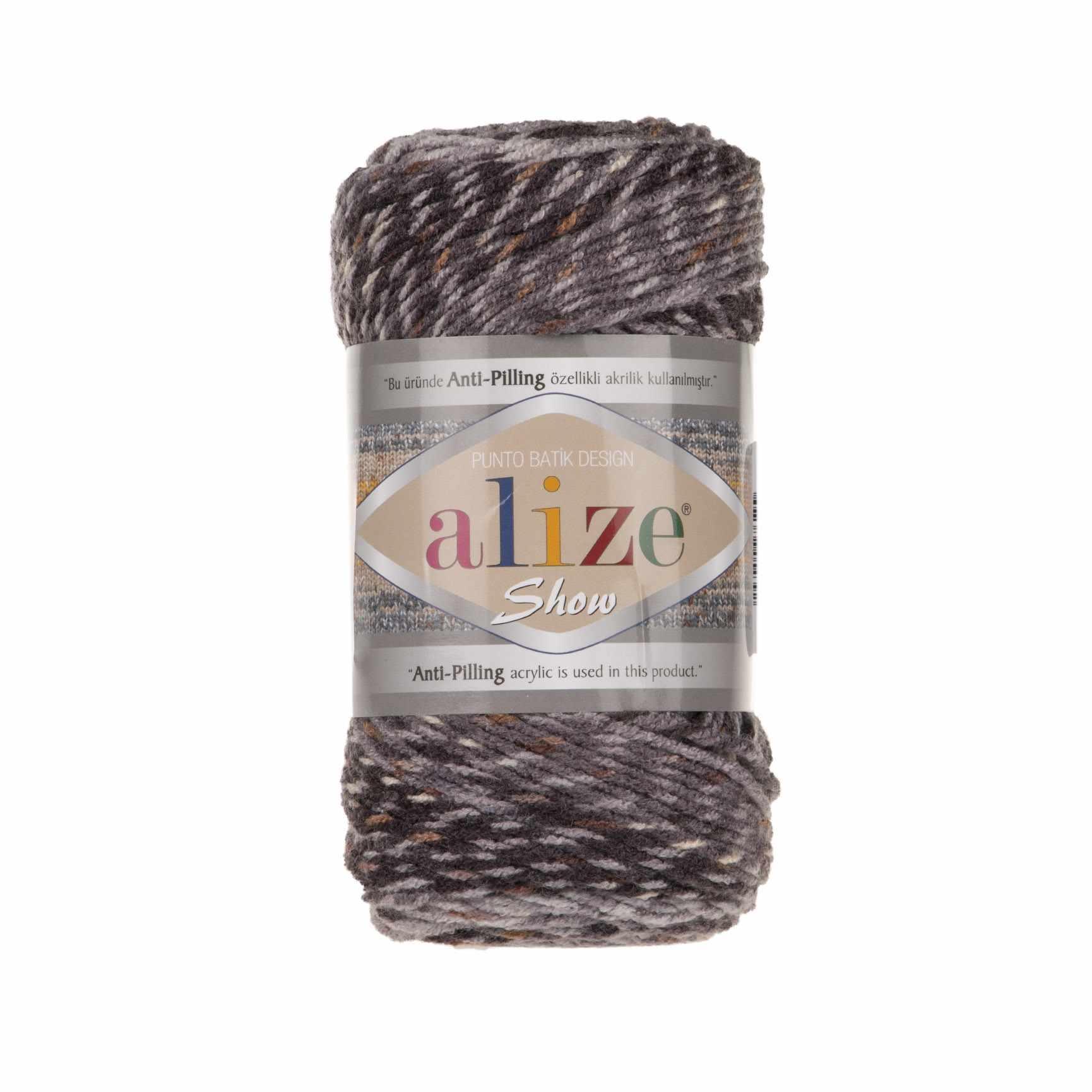 Пряжа Alize SHOW PUNTOBATIKDESIGN Цвет.6356 Серый