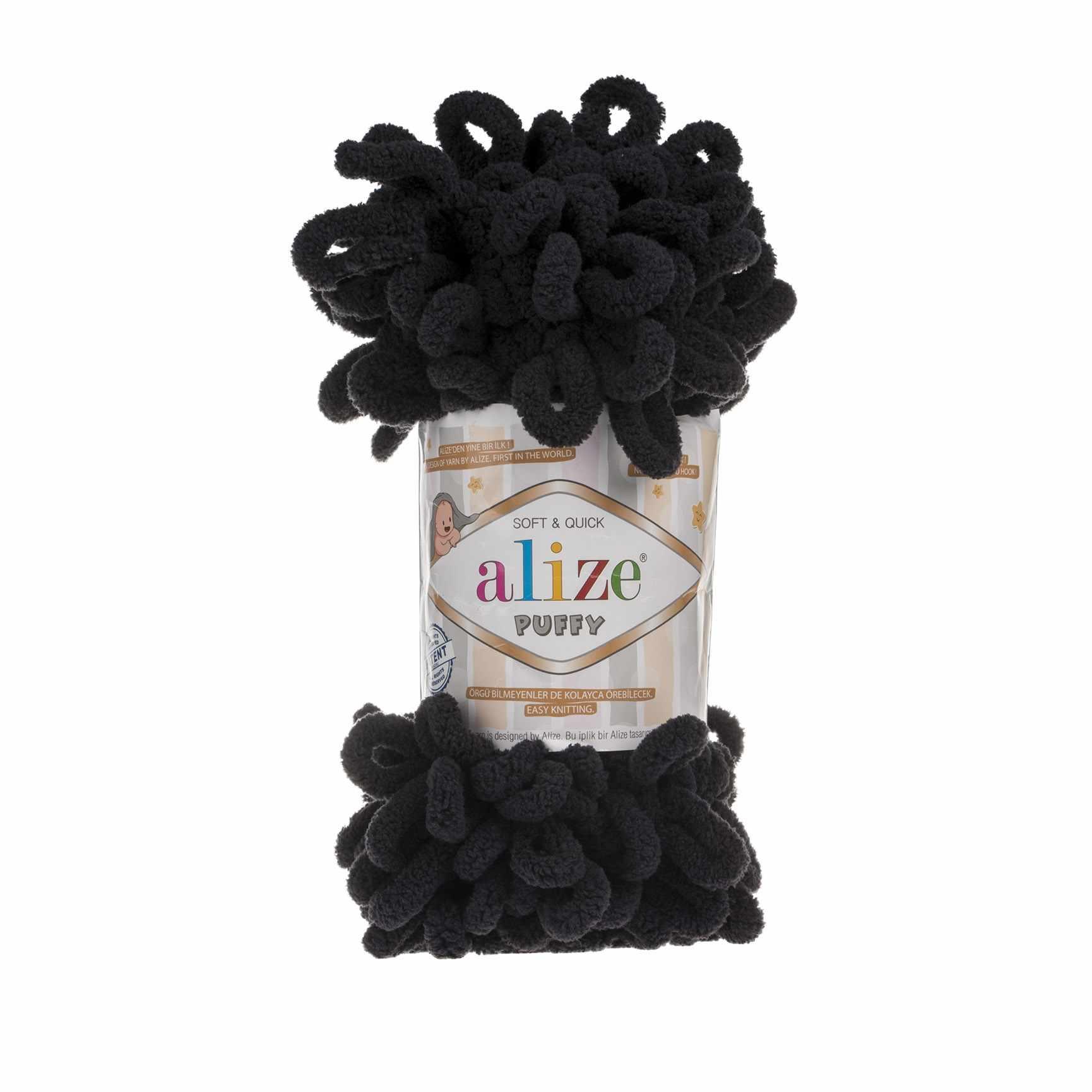 Пряжа Alize PUFFY Цвет.60 Черный