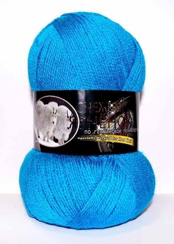 Пряжа Color City Снежный ягненок Цвет.316 Морская волна