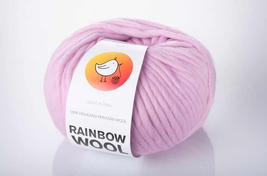 Пряжа RAINBOW BIRD RAINBOW WOOL Цвет.Pink lavander