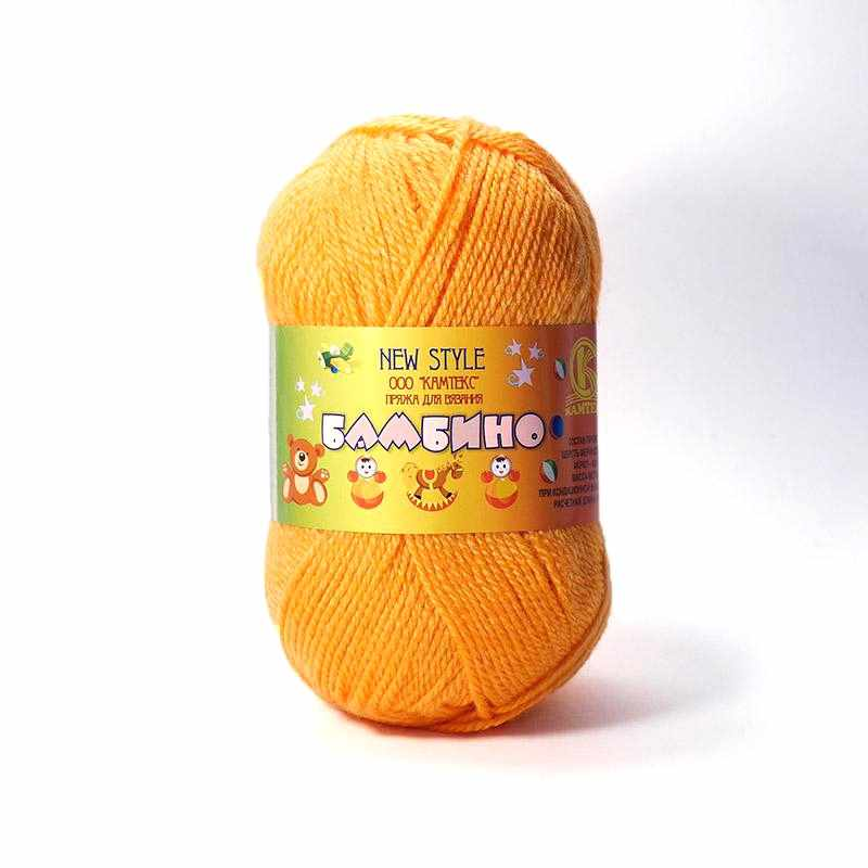 Пряжа Камтекс Бамбино Цвет.35 Оранжевый