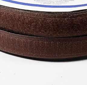 Липучка 20 мм коричневый