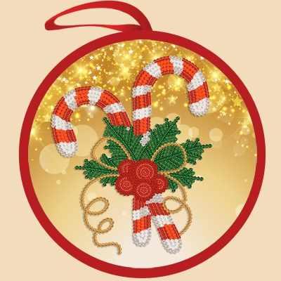 ИКБ-012 Елочная игрушка. Рождественская сладость - схема для вышивания (Марiчка)