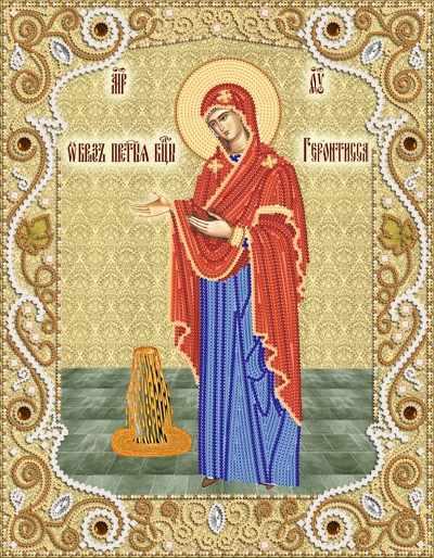 """РИК-3-049 Икона Божией Матери """"Геронтисса"""" - схема для вышивания (Марiчка)"""