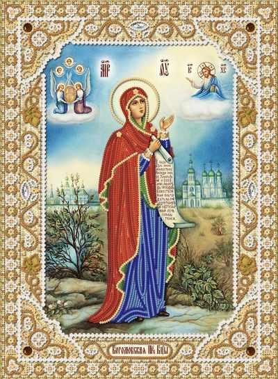 РИК-3-050 Боголюбская икона Божией Матери - схема для вышивания (Марiчка)