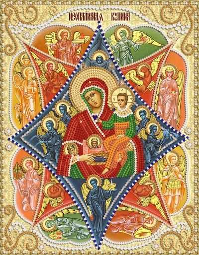 РИК-4041 Икона Божией Матери Неопалимая Купина - схема для вышивания (Марiчка)