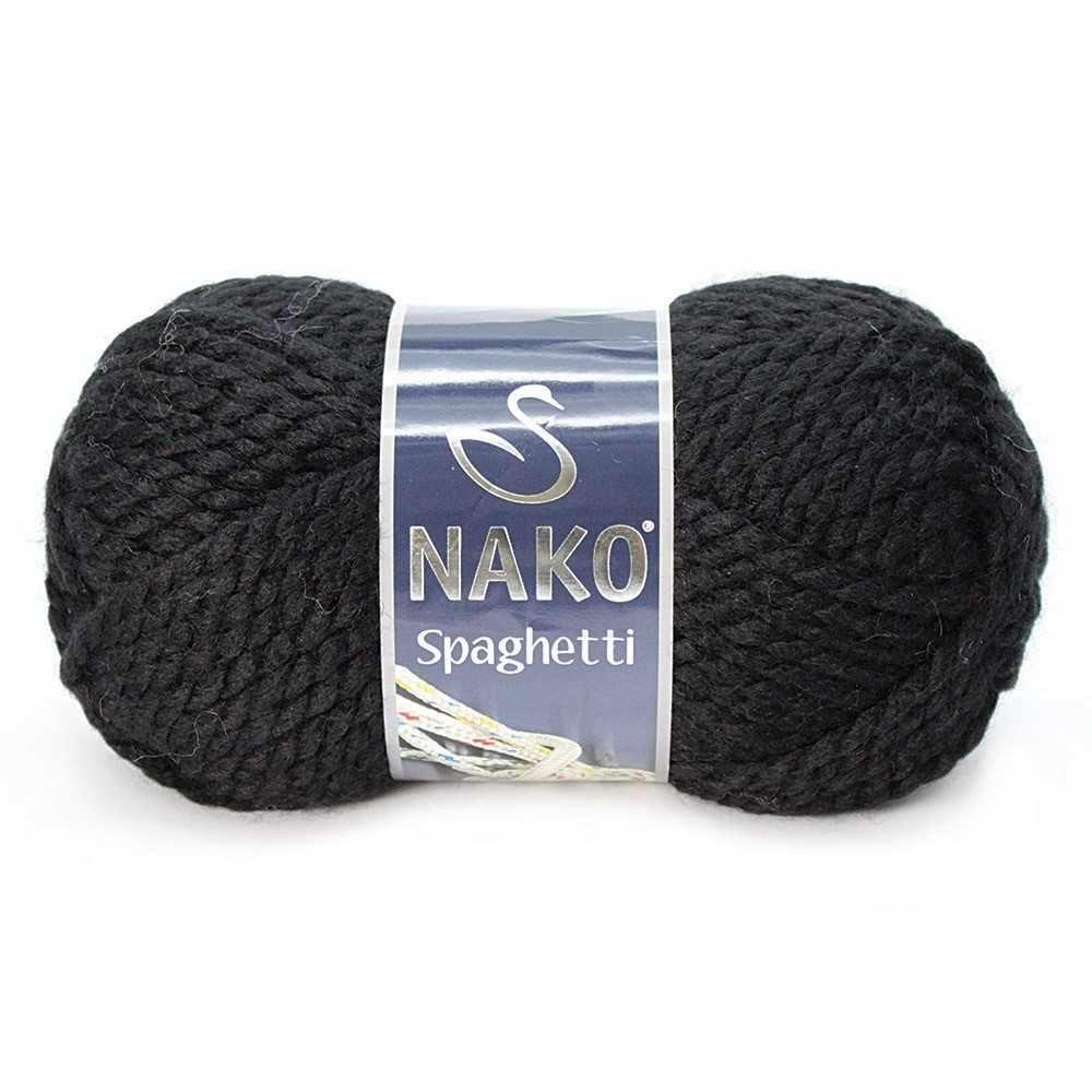 Пряжа Nako Spaghetti Цвет.217 черный