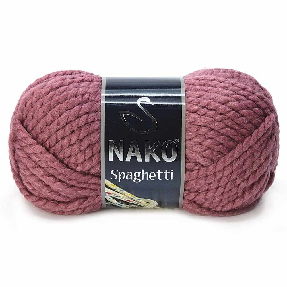 Пряжа Nako Spaghetti Цвет.327 Брусника