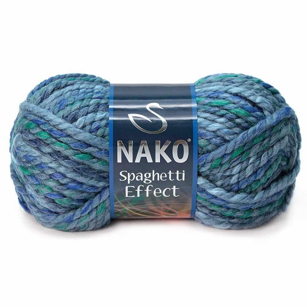 Пряжа Nako Spaghetti Effect Цвет.7602