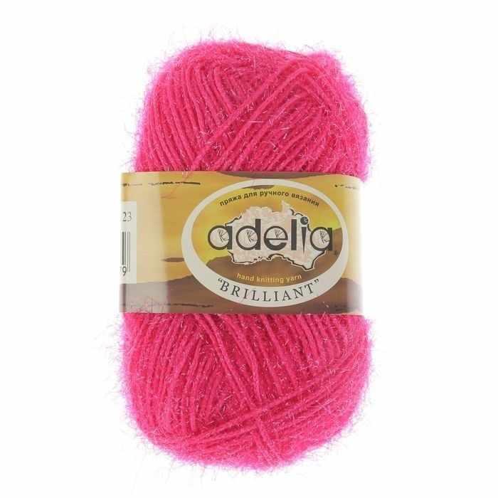 Пряжа Adelia Brilliant 23 яр.розовый