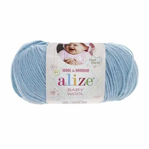 Пряжа Alize Baby Wool Цвет.128 Бирюзовый