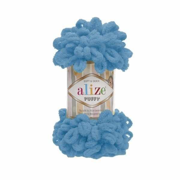 Пряжа Alize PUFFY Цвет.16 Голубой