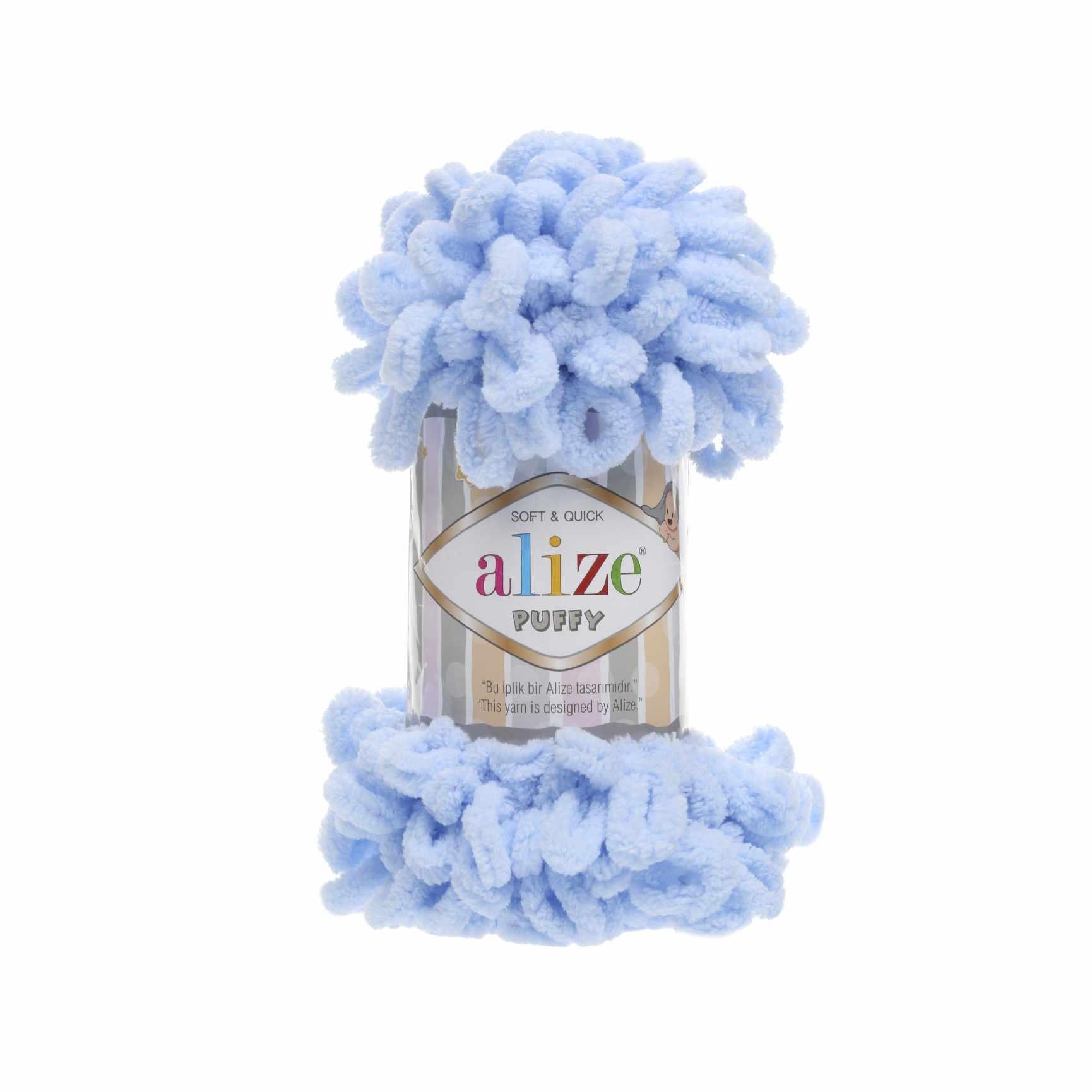 Пряжа Alize PUFFY Цвет.183 Светло голубой