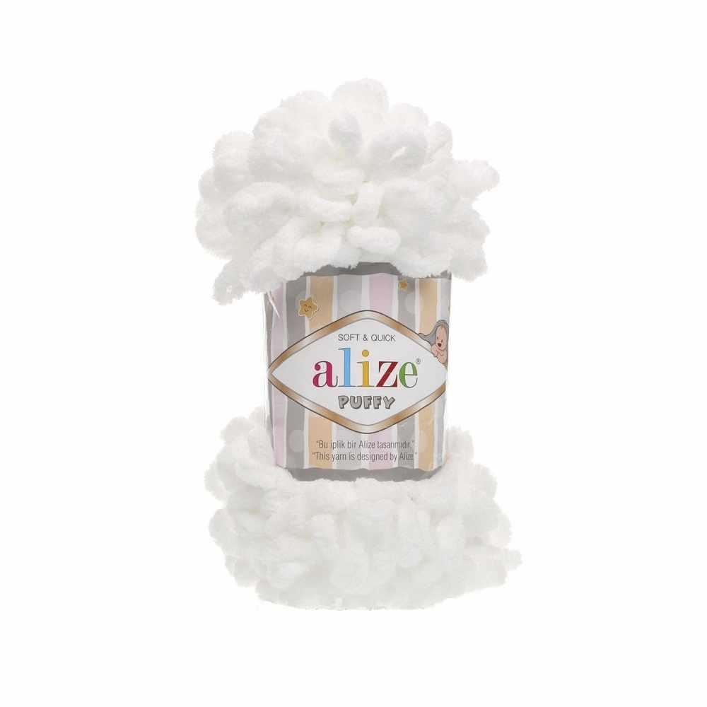 Пряжа Alize PUFFY Цвет.55 Белый
